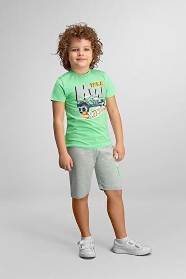 Hot Wheels Hot Wheels Lisanslı Erkek Çocuk Bermuda Takım Yeşil